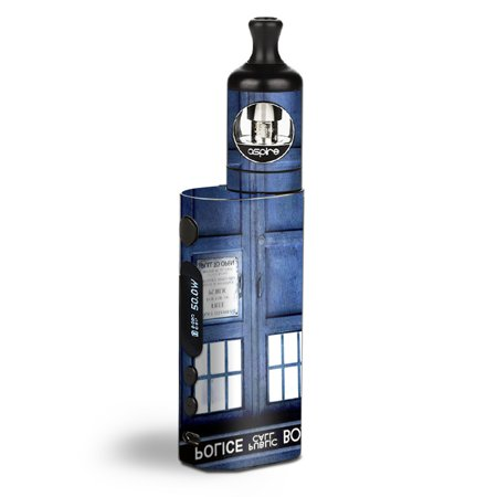 Skin Decal Vinyl Wrap for Aspire Zelos 50W starter Kit Vape stickers skins cover / Phone booth, Tardis call