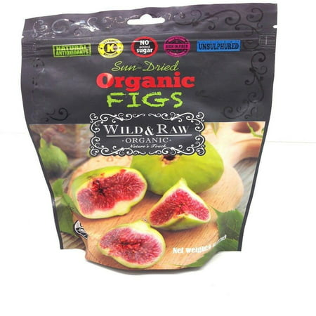 Organic Figs, Sun-Dried (Wild&Raw) 6 oz (170g)