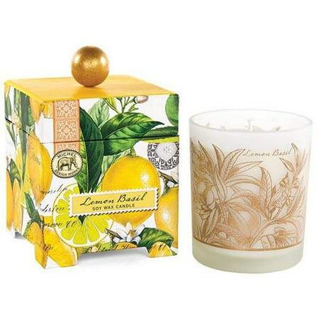 Michel Design Works 14 Oz 100 Soy Wax Candle Lemon Basil