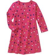 Girls Elbow Sleeve Printed Swing Dress