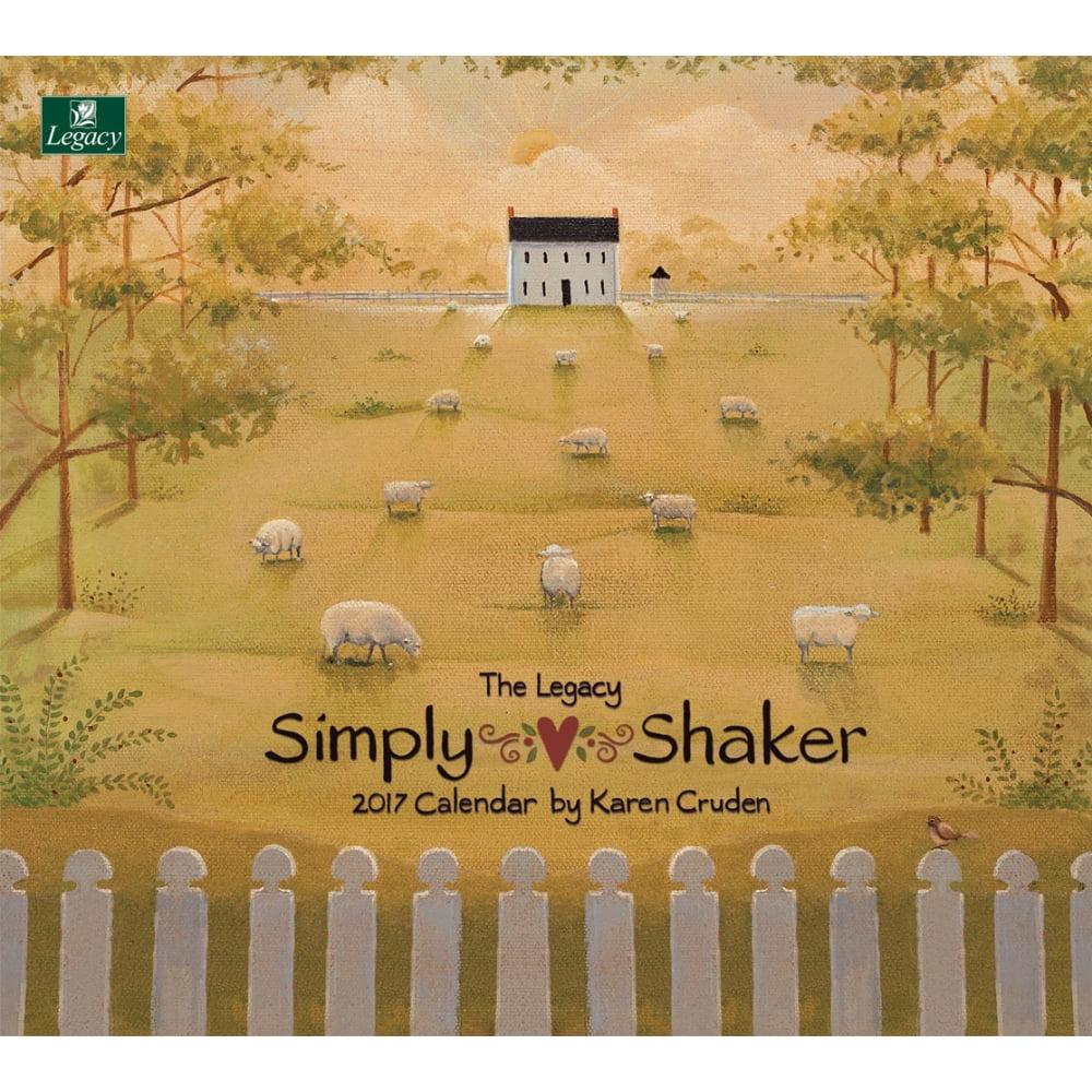Simply Shaker Cruden Wall Calendar - Walmart.com
