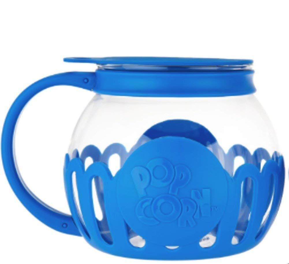 Kitchen Extras 1.5-Quart Glass Popcorn Popper -Dishwasher Safe (BLUE)