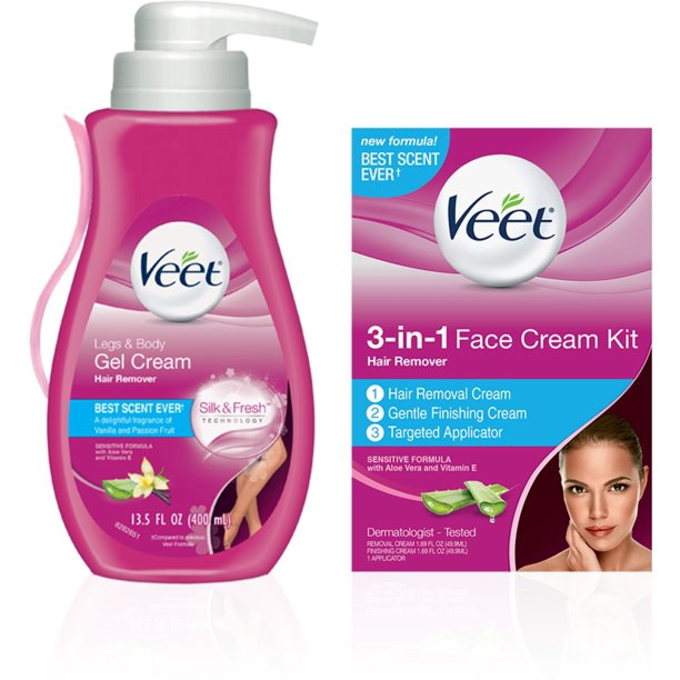 Veet Hair Remover Kit With Gel Cream For Legs Body 13 5oz 3