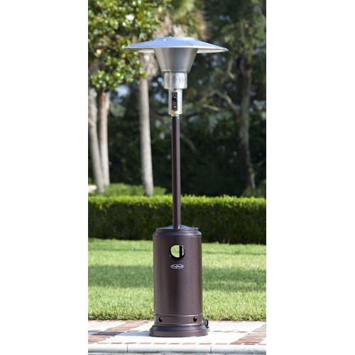 Hammered Bronze Prime Round Patio Heater by Well Traveled Living