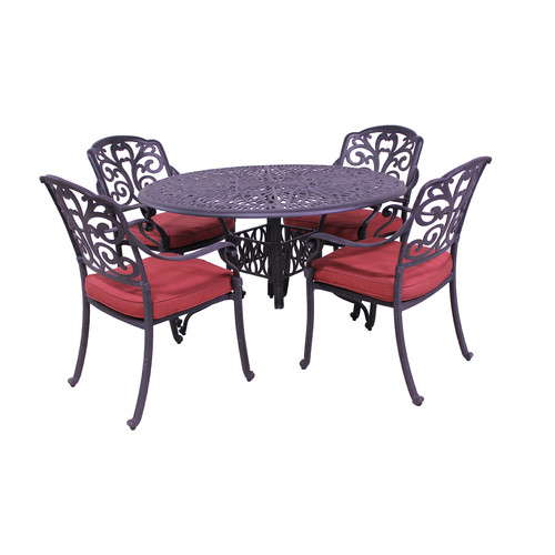 Fleur De Lis Living Thurston 5 Piece Dining Set with Cushions