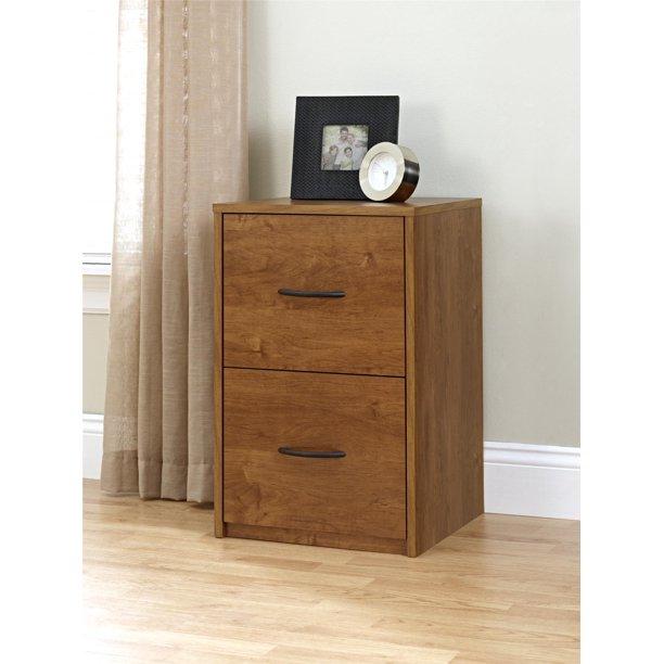 C 2 Drawer File Cabinet Brown Oak