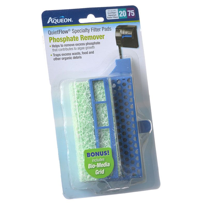 Aqueon QuietFlow Specialty Filter Pads - Phosphate Remover QuietFlow 20/75 - 4 Pack - Pack of 3