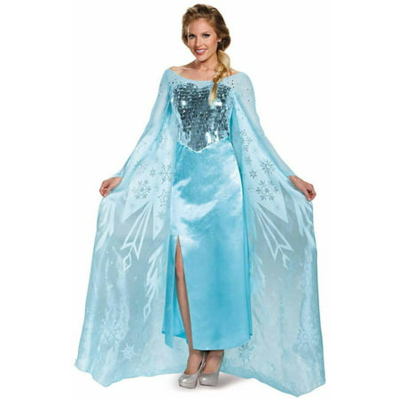 Frozen Elsa Ultra Prestige Women's Adult Halloween Costume - Adult Frozen Elsa Costume