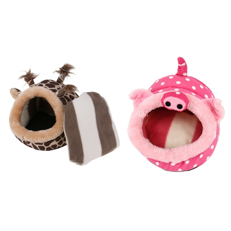 Chicdog Cute Pet Dog Cat Bed Hamster House Squirrel Cage Accessories Guinea Pigs Hamster Bed by