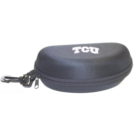 0e3e16276a NCAA Officially Licensed Texas Christian University (TCU) Semi Hard Zip Up  Sunglass Eyeglasses Case