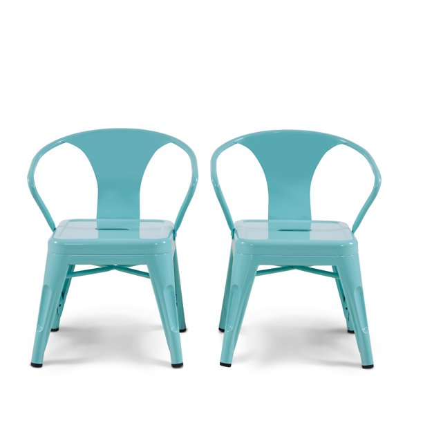 Mainstays Graham Kids Metal Industrial Chair Set of 2, Multiple Colors