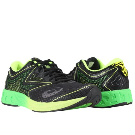 38b1d2cd3aa7 Asics - Asics Noosa FF Black Green Gecko Safety Yellow Men s Running Shoes  T722N-9085 - Walmart.com