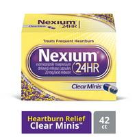 Nexium 24HR ClearMinis (20mg, 42 Count) Delayed Release Heartburn Relief Capsules, Esomeprazole Magnesium Acid Reducer