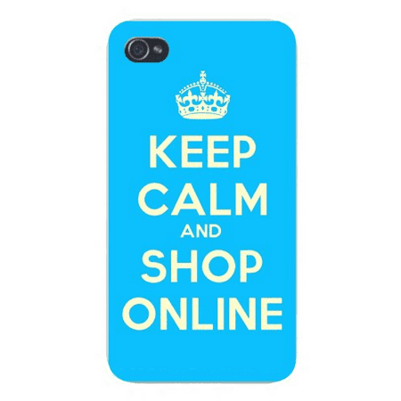 5s Online Tap Halloween (Apple Iphone Custom Case 5 / 5s White Plastic Snap on - Keep Calm and Shop Online White on)