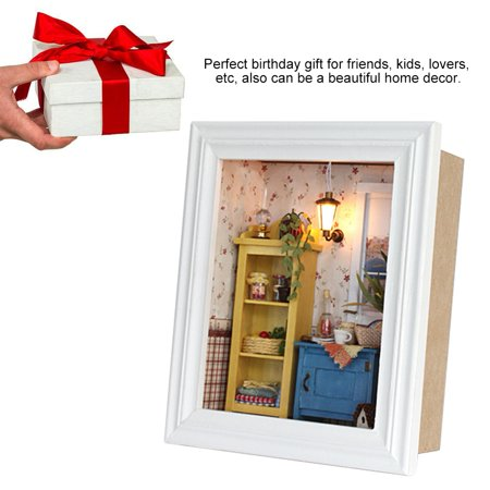 Ejoyous House Toy Kit, DIY House Kit,DIY Dollhouse Photo Frame Design Warm House Kit with Furniture Birthday Gifts Home Decoration - image 2 of 8