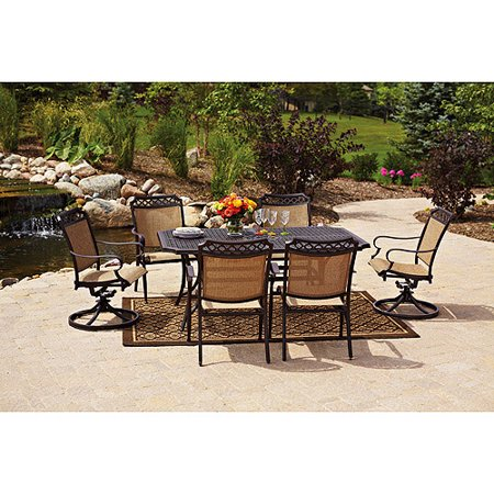 Better homes and gardens paxton place 7 piece patio dining room set seats 6 at garden sensation 7 better homes and gardens