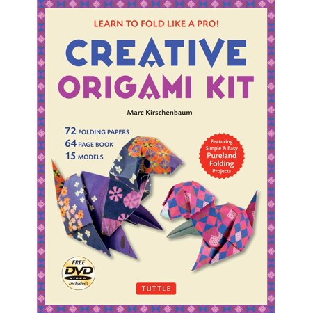 Creative Origami Kit : Learn to Fold Like a Pro!: Instructional DVD, 64-Page Origami Book, 72 Origami Papers: Original Easy Origami for Kids or - Original And Easy To Make Halloween Costumes