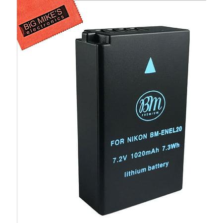 Bm Premium EN-EL20, EN-EL20a Battery for Nikon DL24-500, Coolpix A, 1 J1, 1 J2, 1 J3, 1 S1, 1 V3 Digital