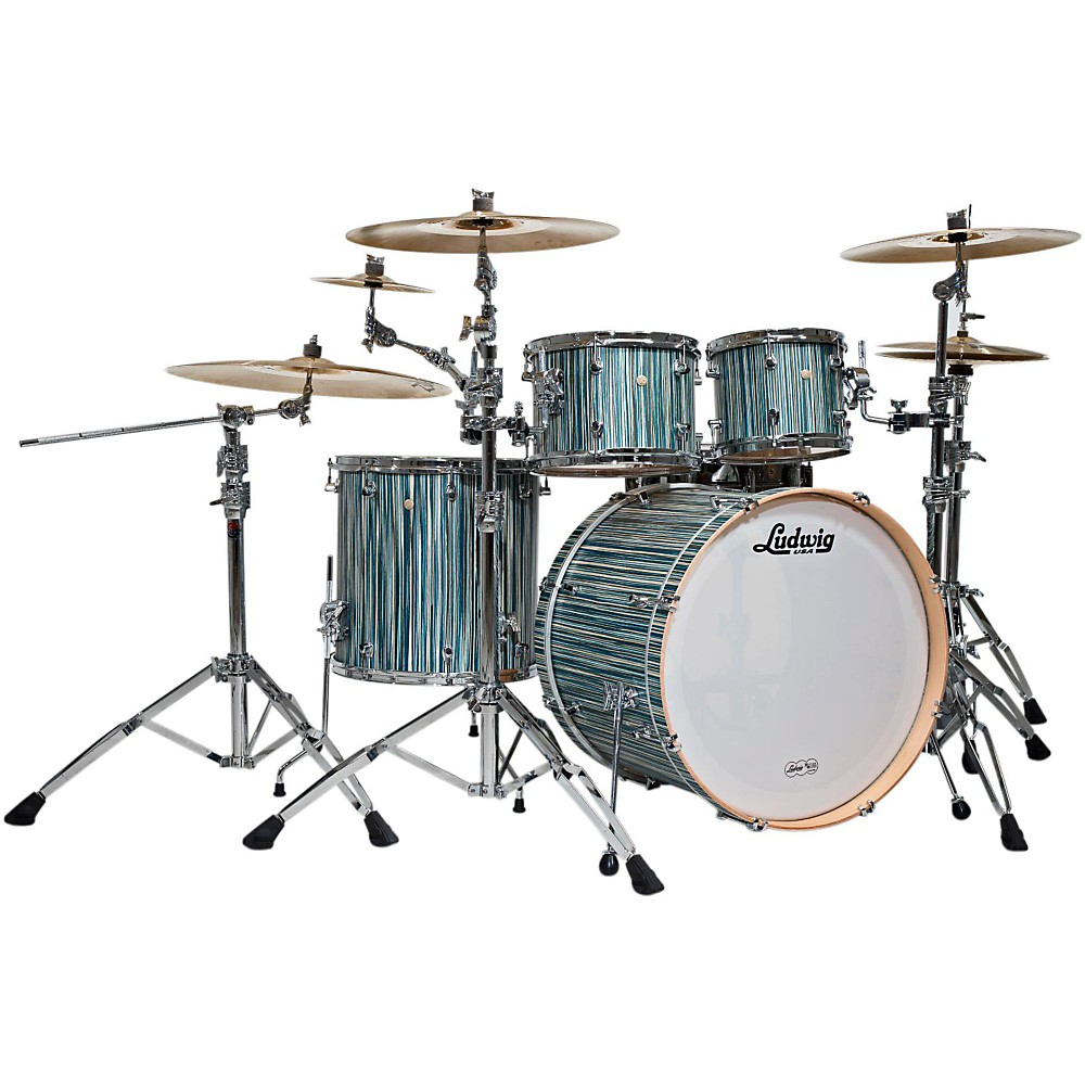Ludwig Signet 105 Terabeat 4-Piece Shell Pack Alpine Blue by Ludwig