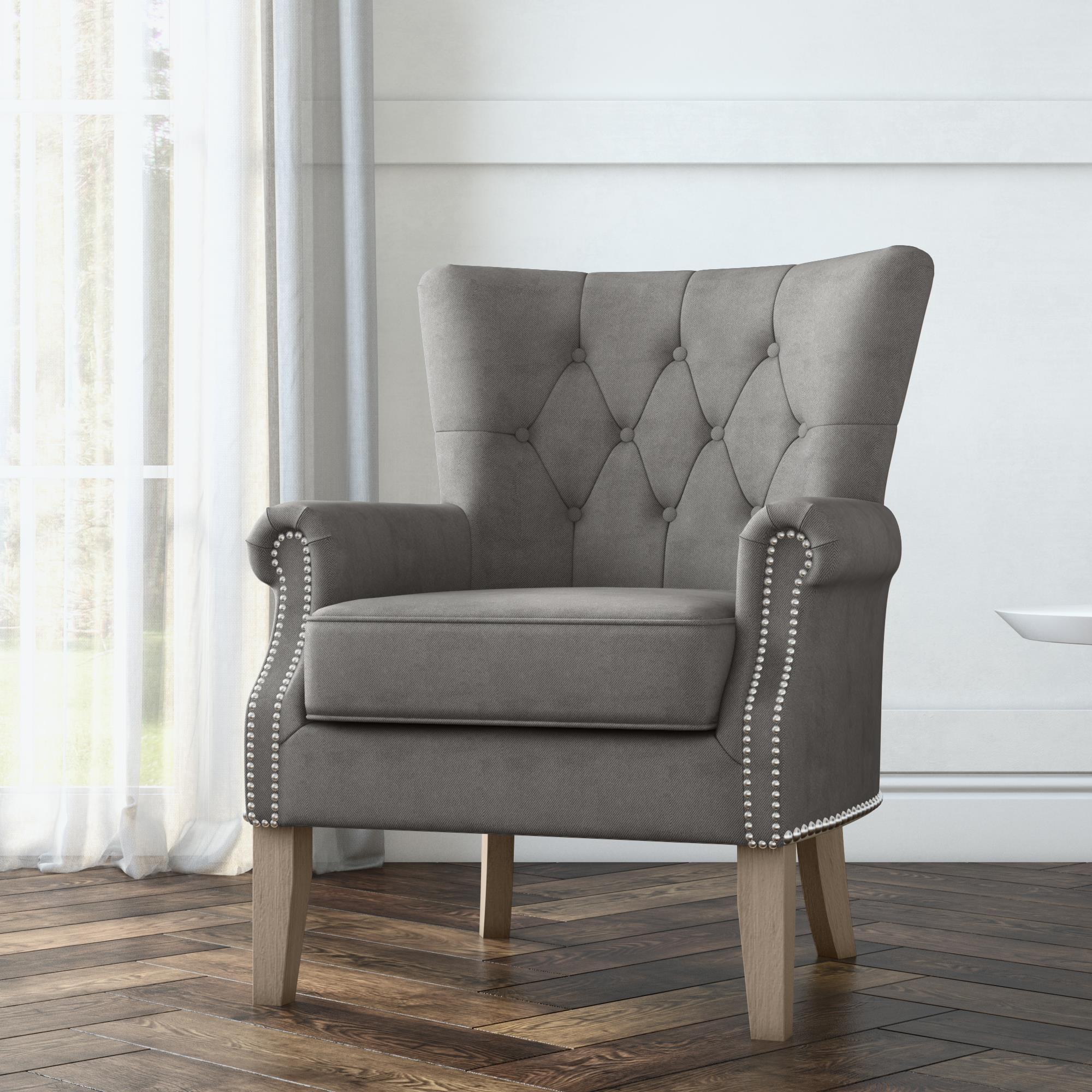 Better Homes & Gardens Accent Chair, Living Room & Home Office, Gray -  Walmart.com