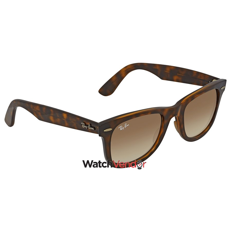 a7bd42ab07 Ray Ban Wayfarer Ease Light Brown Gradient Square Sunglasses RB4340 710 51  50