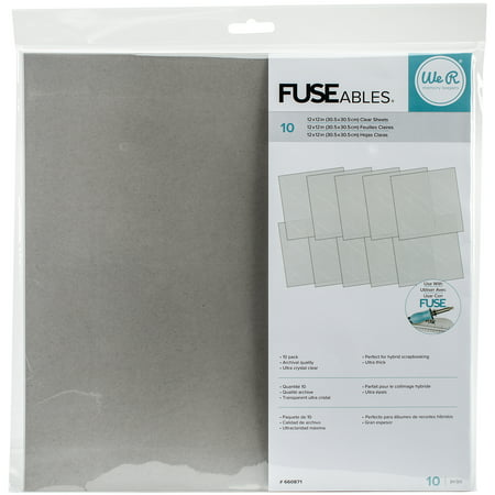 We R FUSEables Fuse Clear Sheets 12
