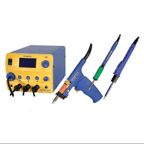 HAKKO FM206-DSA Rework Station,3 Port,DSA,120V,ESD Safe