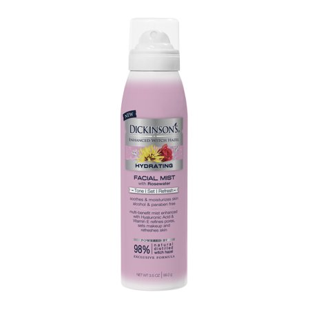 Dickinson's Enhanced Witch Hazel Hydrating Face Mist with Rose Water, 3.5 fl oz (Disney Halloween Witch Hazel)