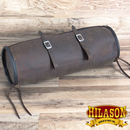 Circle Y Leather Saddle (Hilason Leather Cantle Saddle Bag for Tucker / Circle Y Western )