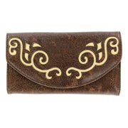 Nocona Western Wallet Womens Scroll Faux Leather Saddle N7521202