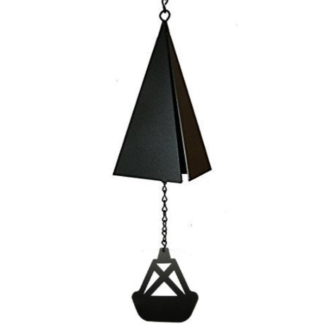 North Country Wind Bells Boothbay Harbor Bell with black triangle catcher