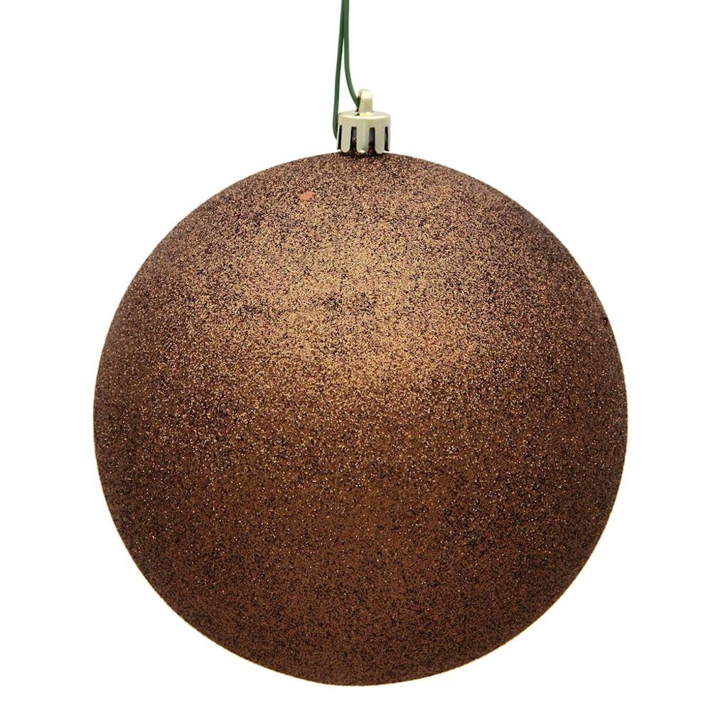 "Vickerman 481783 - 2.75"" Mocha Plastic Glitter Ball Christmas Tree Ornament (12 pack) (N590776DG)"
