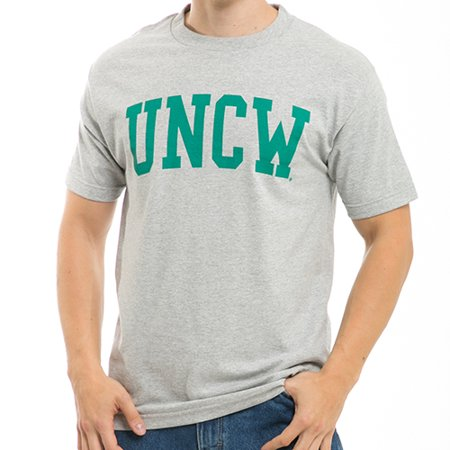 UNCW University of North Carolina Wilmington, S  - NCAA, Game Day Mens Tee T-Shirt - W Republic - Heather Grey - Linens North Carolina University