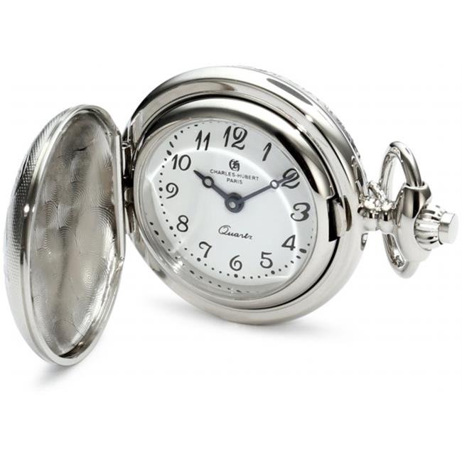 Charles-Hubert Paris 6820 Chrome Finish White Dial Pendant Watch