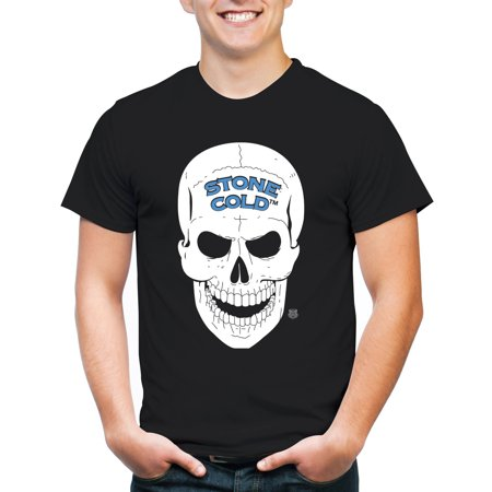 Movies & Tv Wwe stone cold skull men's short sleeve graphic (Volcom Skull Stone)