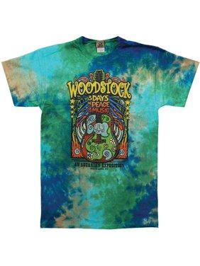 Woodstock Men's  Woodstock Music Festival Tie Dye T-shirt Multi