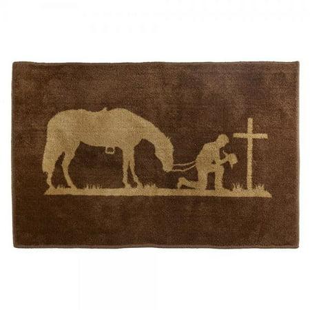 Hiend Accents Western Praying Cowboy Kitchen And Bath Rug 24 X 36