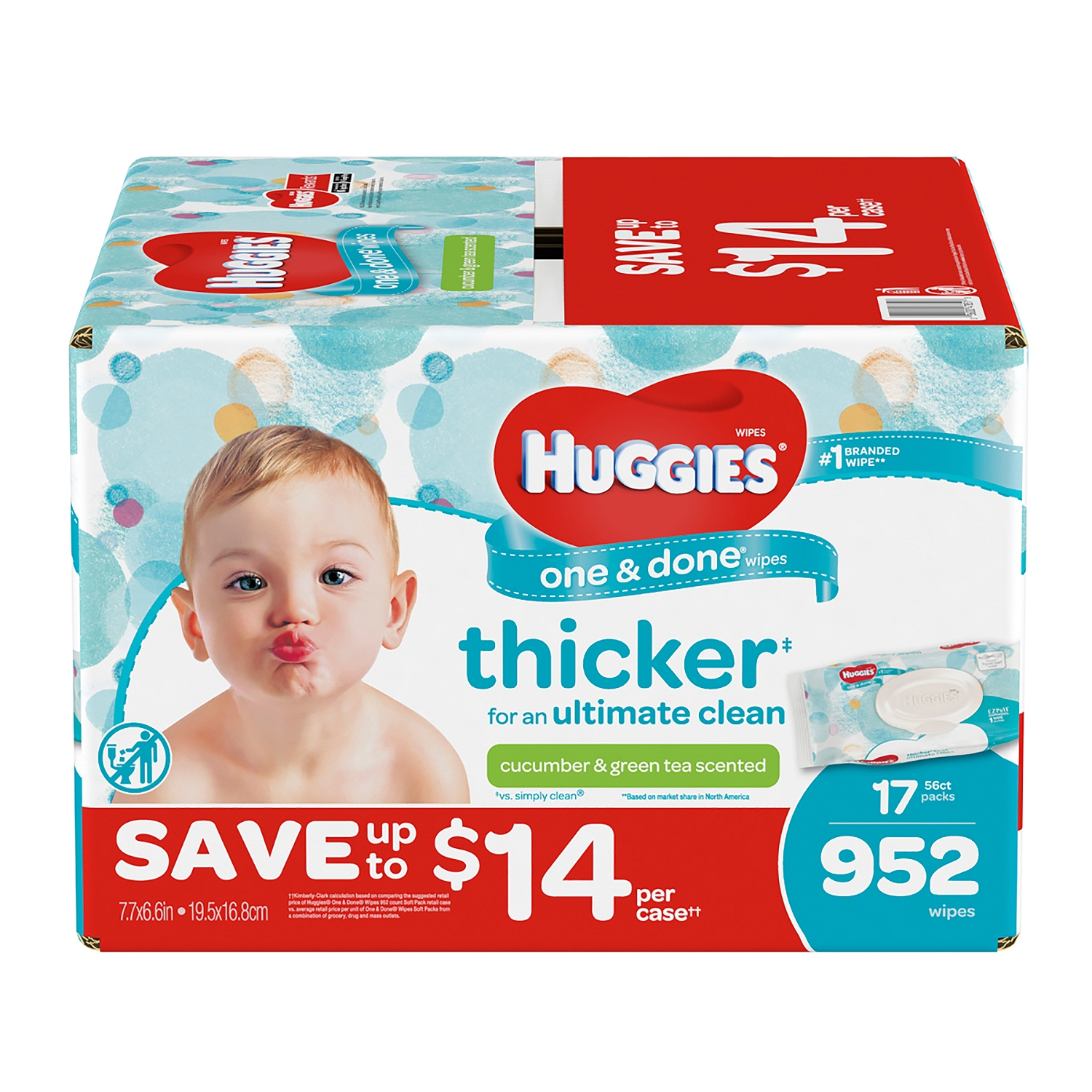 Huggies One & Done Baby Wipes, Scented (952 ct.) by HUGGIES