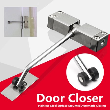 Stainless Steel Adjustable Surface Mounted Automatic Spring Door Closer For  - image 5 de 9
