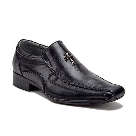 7562d13c15d2 J aime Aldo - Men s M1886 Religious Cross Design Slip On Casual Dress  Church Shoes - Walmart.com