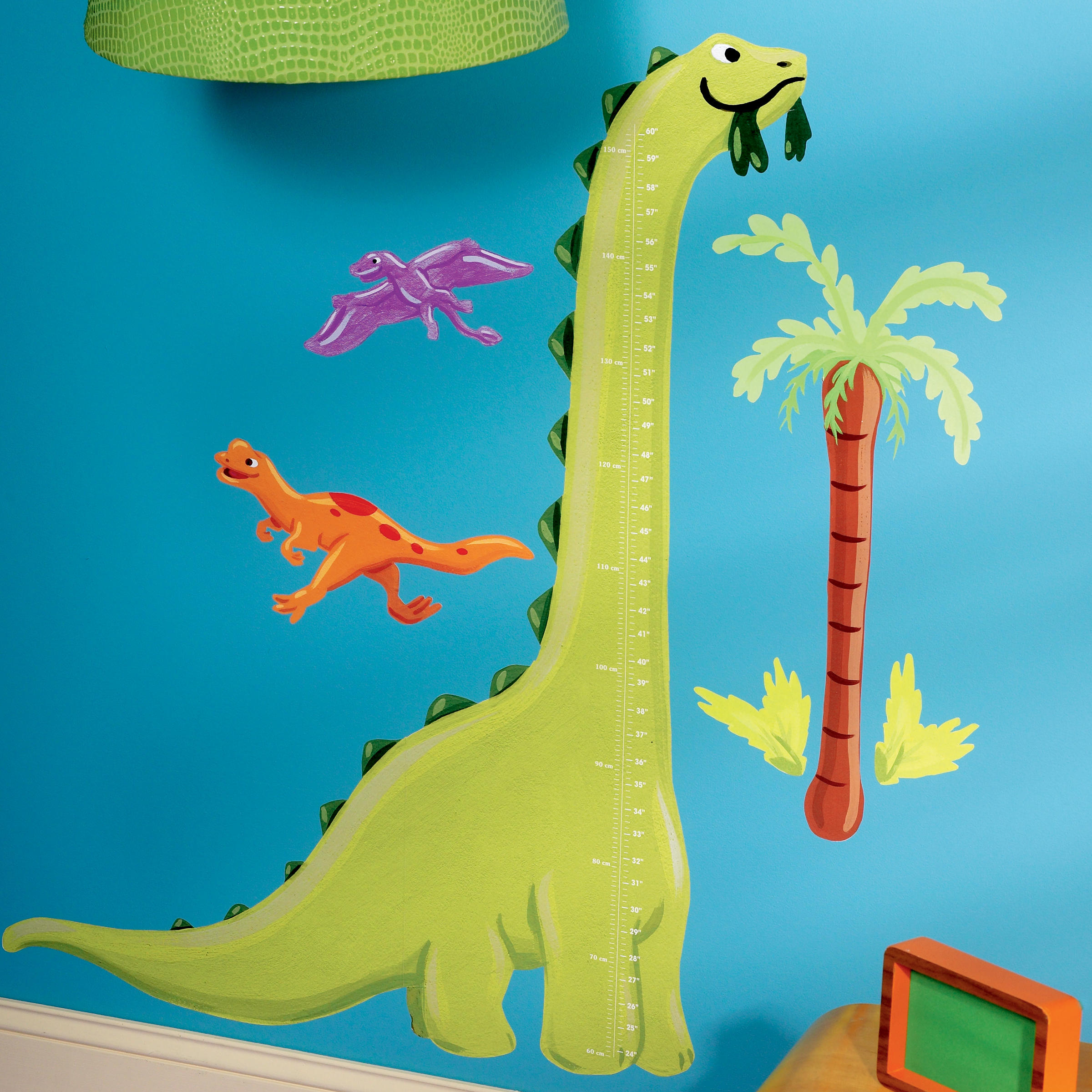 "Wallies Peel & Stick Dino Growth Chart, 2 sheets 19"" x 25"""