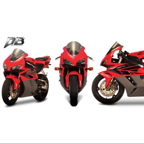 Zero Gravity Double Bubble Windscreen Light Smoke Fits 02-03 Honda CBR954RR