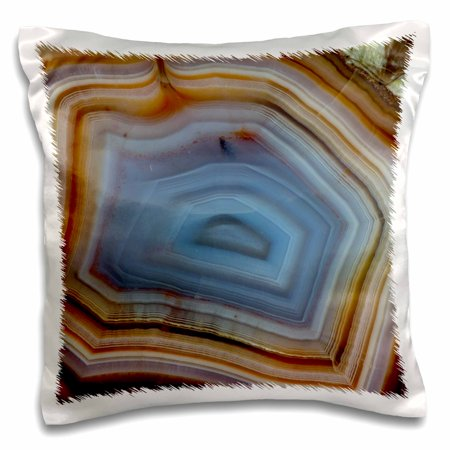 (3dRose Macro of Banded Agate, Quartzsite - Pillow Case, 16 by 16-inch)