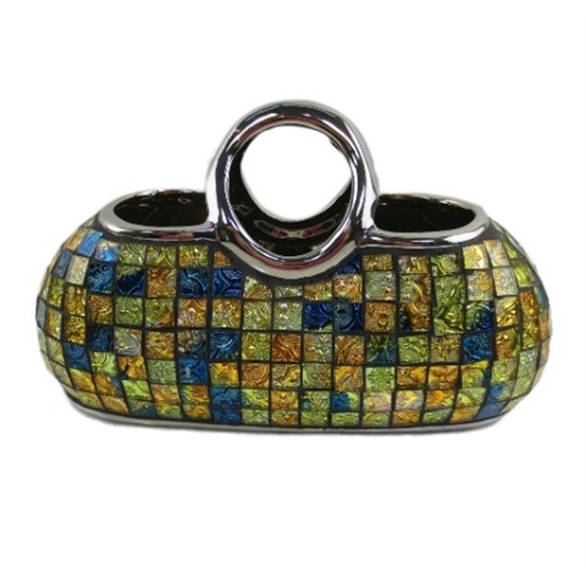 Unique Purse Shape Decorative Ceramic /& Glass Flower Vases