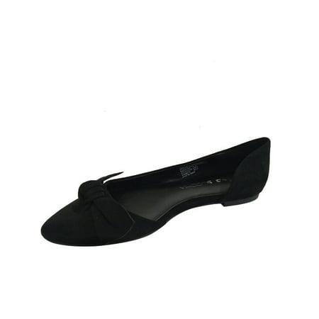 Women's Almond Toe Bow Flat Shoe