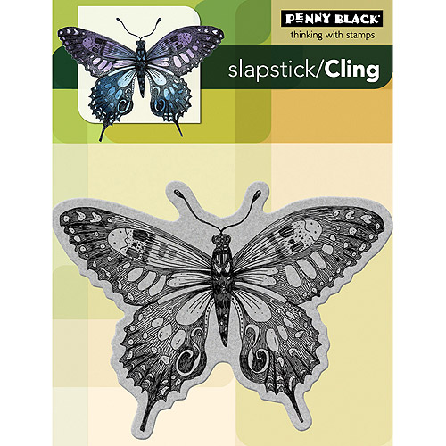 """Penny Black Cling Rubber Stamp 4"""" x 5, 1/4"""", Soft Wing"""