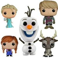 Frozen Funko Pop Vinyl Figure [ Elsa - Anna - Olaf - Kristoff - Sven ] (Deluxe Collector Set of 5) Cartoon Animated Movie Toy Figurine Kids Room Decor Walt Disney Collectible