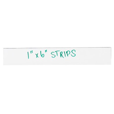 Box Partners LH173 1 x 6 in. White Warehouse Labels - Magnetic Strips - Pack of 25