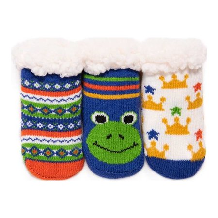 Infant MUK LUKS 3-Pack Cabin Sock (Sock Monkey Company)