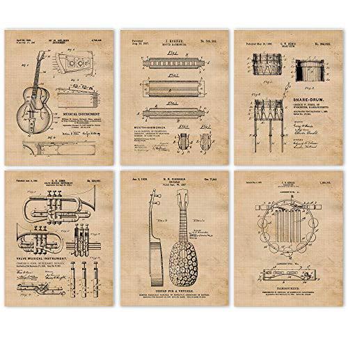 Patent Art Tambourine Patent Print Home Decor Poster Music Room Decor Music Teacher Gift Patent Poster Percussionist Gift